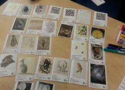 Card samples with Natural History content from Europeana