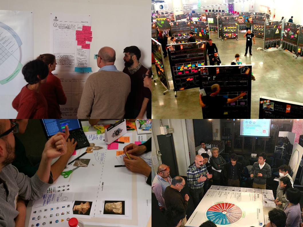 Some of the facilitation work and co-creation workshops with Platoniq and Goteo that reflect Agile and design thinking methodologies related to my research